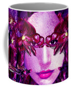 Black Orchid Eyes Coffee Mug