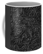 Black Paper Floral Seamless Pattern Coffee Mug