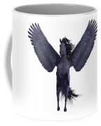 Black Pegasus On White Coffee Mug