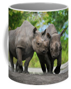 Black Rhinoceroses Coffee Mug