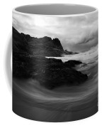 Black Rock  Swirl Coffee Mug by Mike  Dawson
