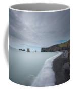 Black Sand Beach Coffee Mug