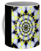 Black, White And Yellow Sunflower Coffee Mug