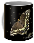 Black Swallowtail On Black Coffee Mug