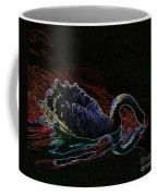 Black Swan In Color Coffee Mug