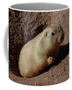 Black Tailed Prairie Dog Climbing Out Of A Hole Coffee Mug