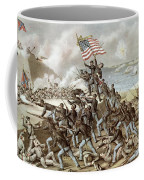 Black Troops Of The Fifty Fourth Massachusetts Regiment During The Assault Of Fort Wagner Coffee Mug by American School