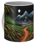 Night View With Full Moon Coffee Mug