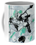 Black, White, Turquoise And Silver Coffee Mug