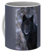 Black Wolf Portrait Coffee Mug