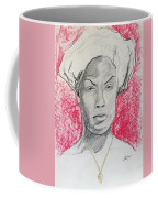 Black Woman With Red Background Coffee Mug