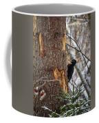 Black Woodpecker Peek Coffee Mug
