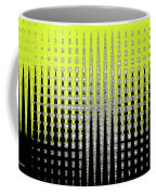 Black Yellow White With Abstract Action Coffee Mug