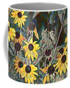 Blackeyed Susans Watercolor Coffee Mug