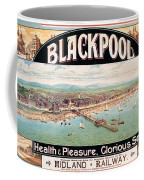 Blackpool, England - Retro Travel Advertising Poster - Seaside Resort - Vintage Poster Coffee Mug