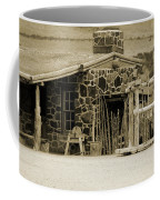 Blacksmith Shop 1867 Cove Creek Fort Utah Photograph In Sepia Coffee Mug