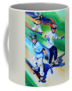Blasting Boarders Coffee Mug by Hanne Lore Koehler