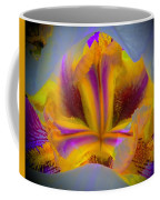 Blazing Heart Of An Iris Coffee Mug
