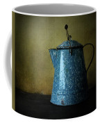 Blue Enamelware Coffee Pot Coffee Mug