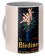 Bledine- Baby - Flower Pot - Old Poster - Vintage - Wall Art - Art Print - Porridge  Coffee Mug