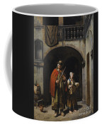 Blind Elderly With His Daughter Coffee Mug