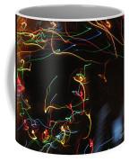 Blizzard Of Colorful Lights. Dancing Lights Series Coffee Mug