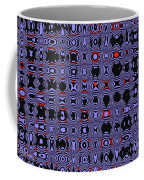 Bllue And Black Abstract #4 Coffee Mug