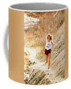 Blond Woman Trail Runner Coffee Mug
