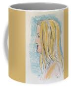 Blonde With Long Hair Coffee Mug