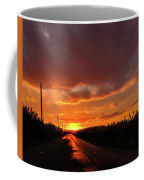 Blood And Gold In The Road Sunset At Portmahon Delaware Coffee Mug
