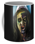 Bloody Zombie Nurse Screaming Out In Insanity Coffee Mug