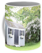 Blooming Tree Next To Shed Coffee Mug