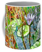 Blossom Lotus Flower In Pond Coffee Mug
