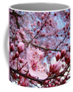 Blossoms Art Blue Sky Spring Tree Blossoms Pink Giclee Baslee Troutman Coffee Mug