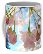 Blossoms Art Prints 52 Pink Tree Blossoms Nature Art Blue Sky Coffee Mug