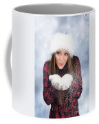 Blowing Snow In Winter Coffee Mug