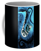 Piano Keys In A Saxophone Blue 2 - Music In Motion Coffee Mug