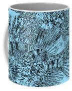 Blue Abstract - Lionfish Coffee Mug