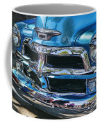 Blue And Chrome Chevy Pickup Front End Coffee Mug