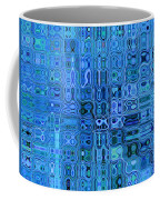 Blue And Green Quilt Coffee Mug