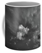 Blue And Pink Clouds In Black And White  Coffee Mug