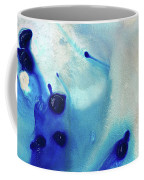 Blue And White Art - A Short Wave - Sharon Cummings Coffee Mug