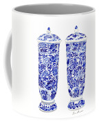 Blue And White Chinoiserie Vases Coffee Mug