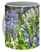 Blue And White Hyacinth Flowers Coffee Mug