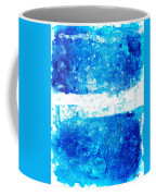 Blue And White Modern Art - Two Pools 2 - Sharon Cummings Coffee Mug