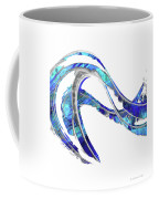 Blue And White Painting - Wave 2 - Sharon Cummings Coffee Mug