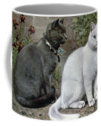 Blue And White Short Haired Cats Coffee Mug