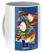 Blue And White Tulips Coffee Mug