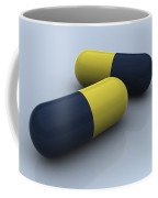 Blue And Yellow Medication Capsules Coffee Mug