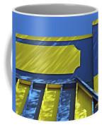 Blue And Yellow Shadows Coffee Mug